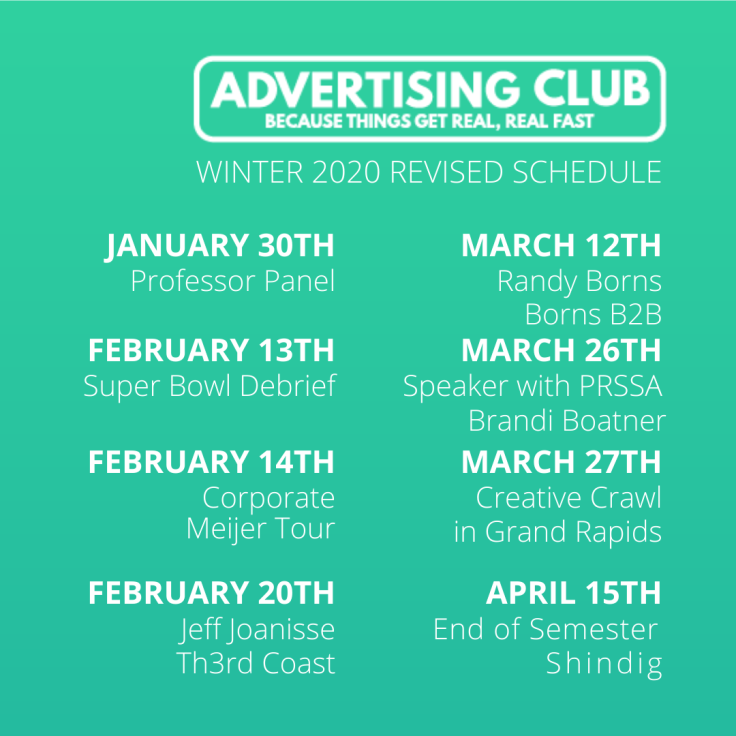 ad club 2020 schedule